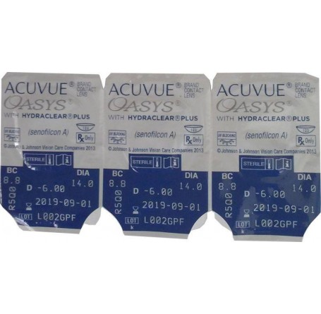 Контактные линзы - ACUVUE OASYS with HYDRACLEAR Plus - Фото № 5