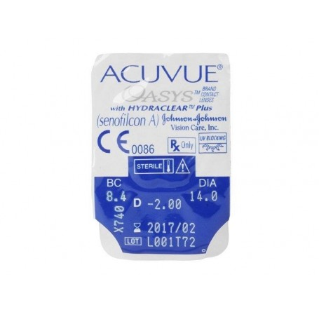 Контактные линзы - ACUVUE OASYS with HYDRACLEAR Plus - Фото № 3