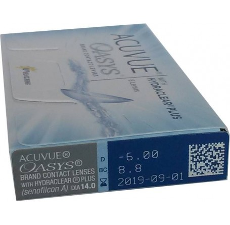 Контактные линзы - ACUVUE OASYS with HYDRACLEAR Plus - Фото № 4