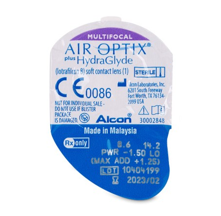 Контактные линзы - AIR OPTIX plus HydraGlyde MULTIFOCAL - Фото № 2